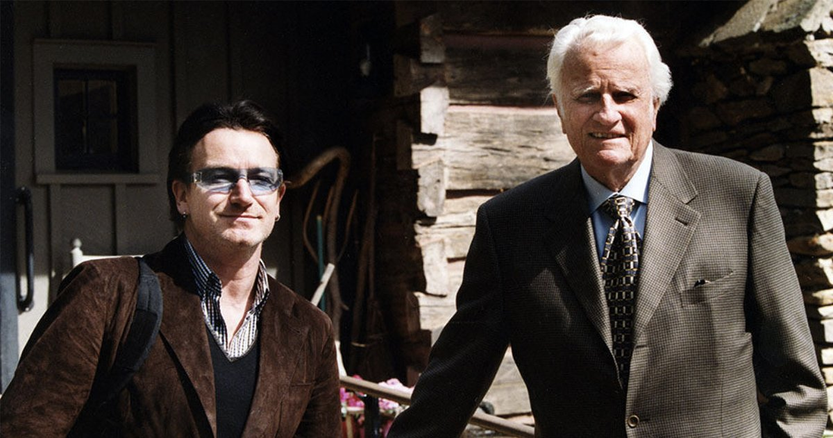 Billy Graham and Bono- A Friendship Shared In A Poem By U2 Frontman