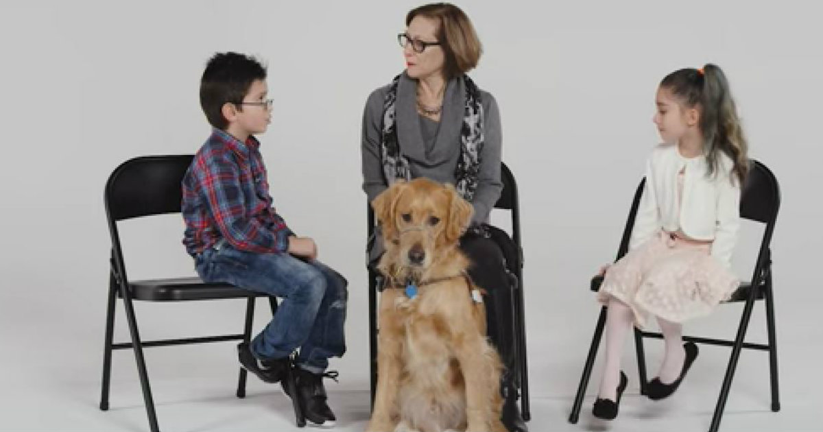 Godupdates kids meet guide dog