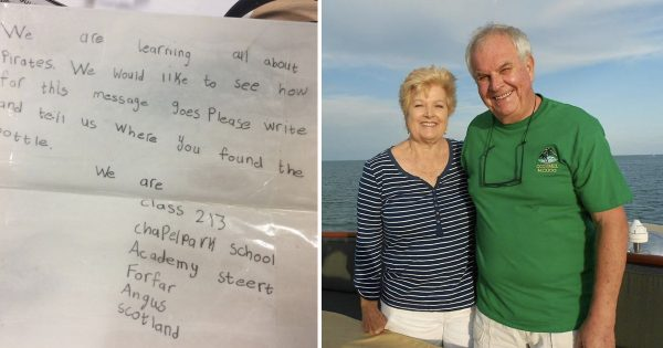 30 Years and 4000 Miles Later, Message In A Bottle Found By Couple