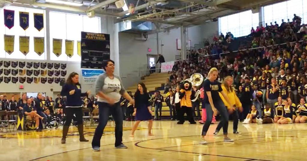 Teachers Interrupt Principal For Pep Rally Flash Mob