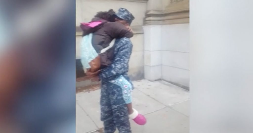 10-year-old Trows A Tantrum Until She Sees Her Military Brother