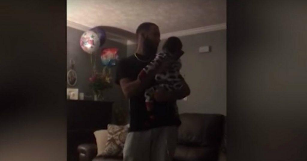 godupdates dad starts singing to son