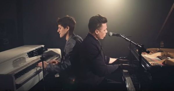 "Flawless Piano Duet To Disney Song ""Go the Distance"""