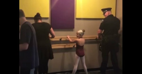 Police Officer Adorably Goes To Ballet Class With His Daughter