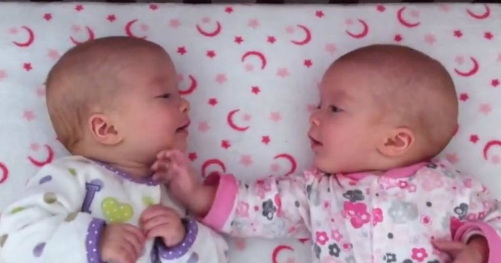 godupdates twin girls first time interacting
