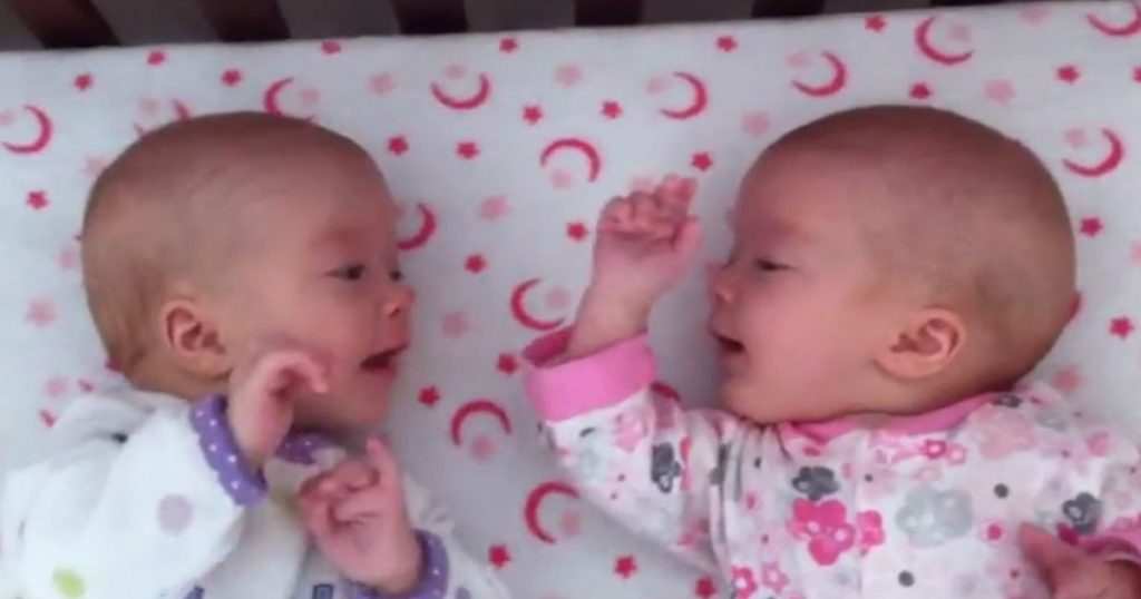 godupdates twin girls first time interacting