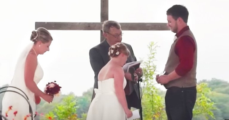 Groom And Sister Of The Bride Exchange Special Vows