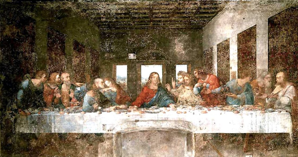 the last supper _ before restoration _ godudpates