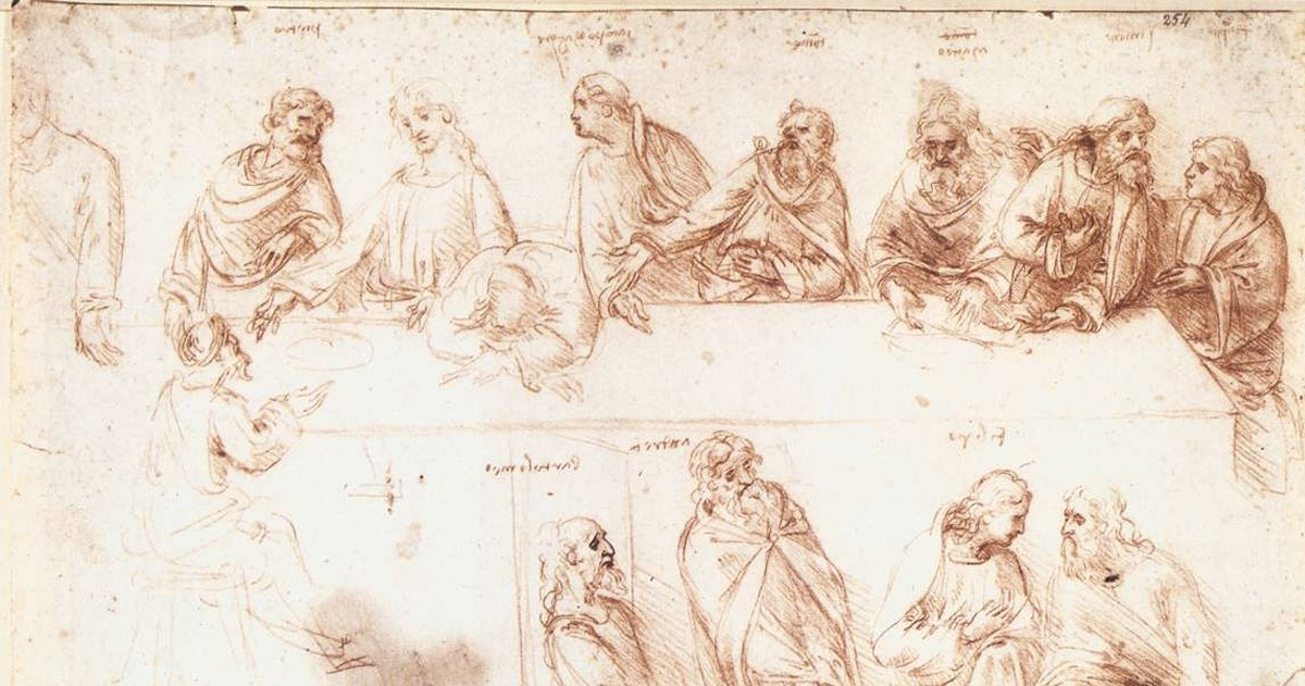 the last supper _ sketch _ godupdates