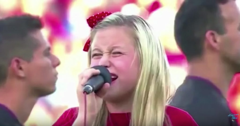 Girl Who Sang The Worst National Anthem Ever Auditions For American Idol