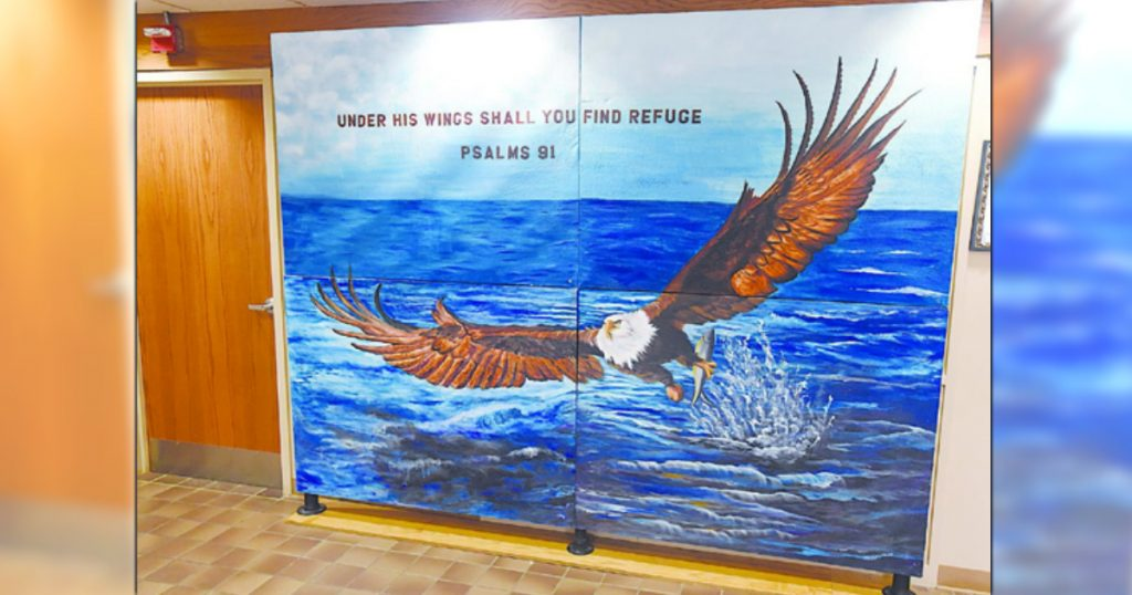 godupdates atheists attack mural containing a bible verse religions persecution 1
