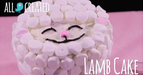 Adorable And Easy Easter Lamb Cake