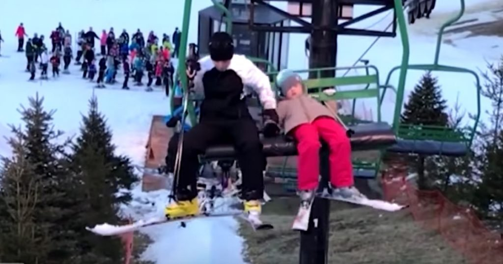 Heroic Mom Hangs On To Children Falling From Ski Lift In Rescue Caught On Camera