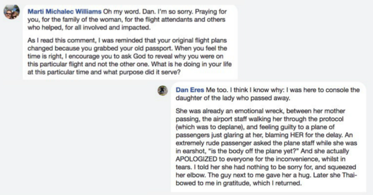 godupdates inspiring story of compassion on a plane when passenger died 3