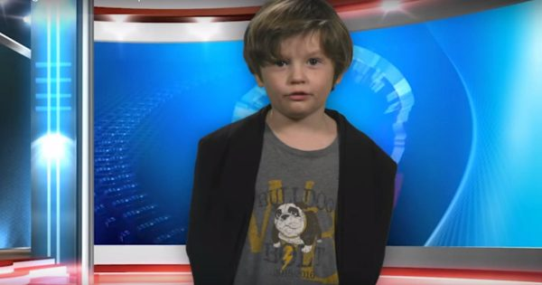 Kindergartner Gives An Adorable Weather Report For His Class Project