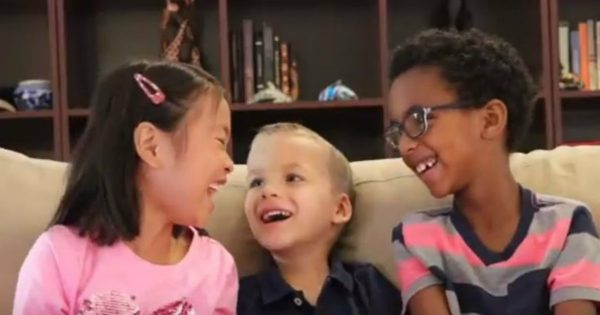 Three Adorable Children Share The Story About Jesus And The Samaritan Woman At The Well