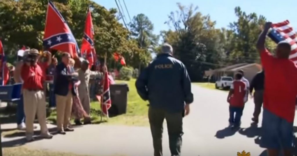 godupdates neighbor with confederate flags