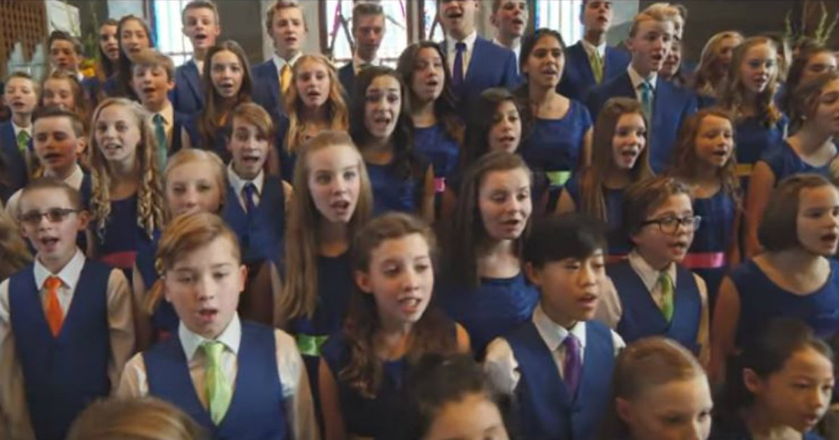 One Voice Children's Choir Sings 'I Can Only Imagine'