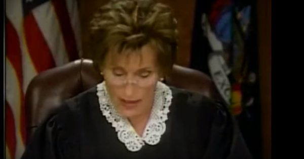 Judge Judy Solved A Court Case In Less Than A Minute And It Was Hilarious