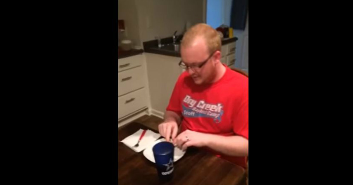 Wife Finds Her Husband At The Kitchen Table