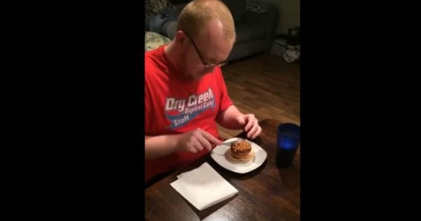 Wife Surprises Her Husband With A Cupcake That Had A Special Surprise In It