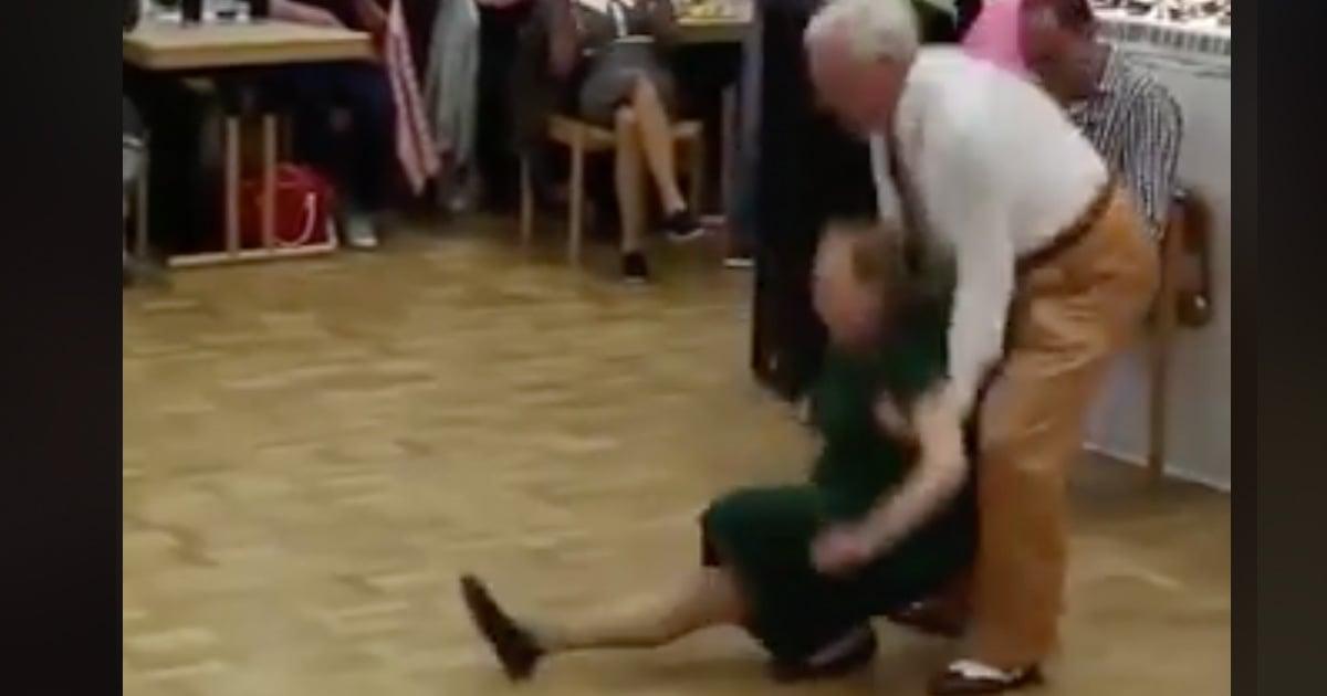 Elderly Couple's Impressive Swing Dance Routine Goes