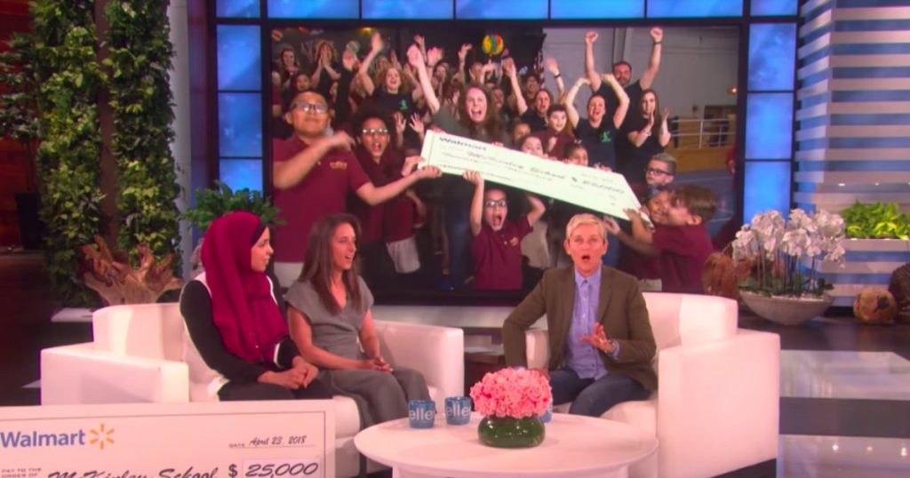 godupdates ellen degeneres surprised two teachers