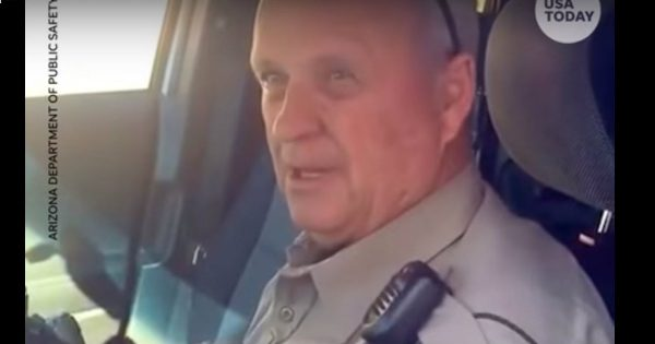 Trooper Gets Emotional On His Last Day Of Work After Serving For 37 Years