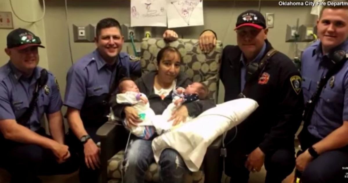 godupdates fire fighters saved premature twins