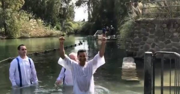 TV Host And Actor Gets Baptized In The Jordan River