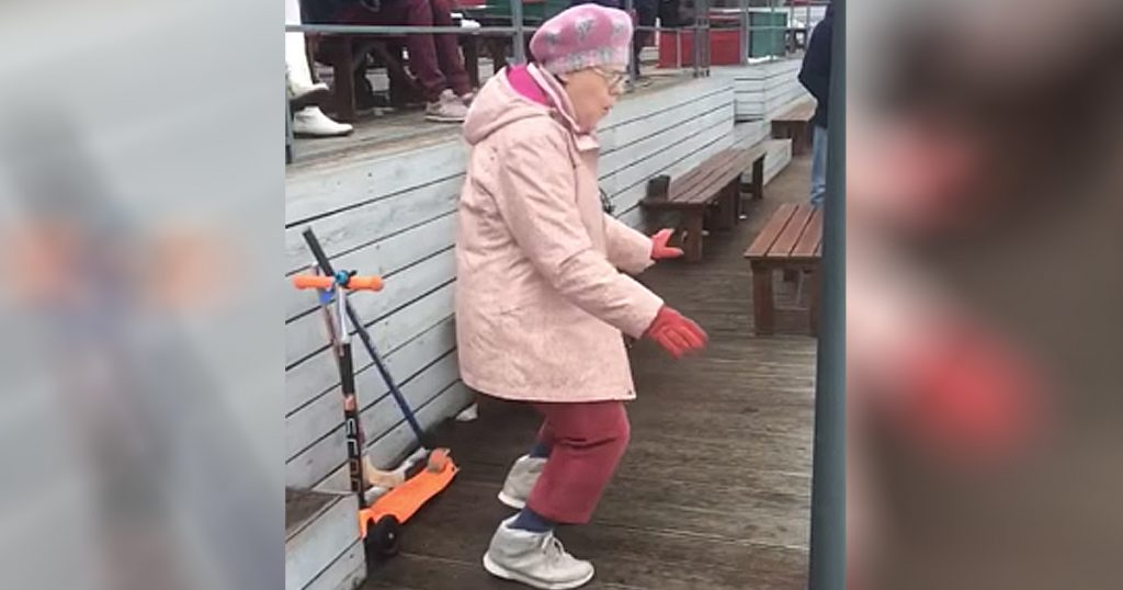 granny dancing to sweet dreams goes viral