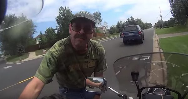 Near Deadly Motorcycle Accident Caught On Dashcam