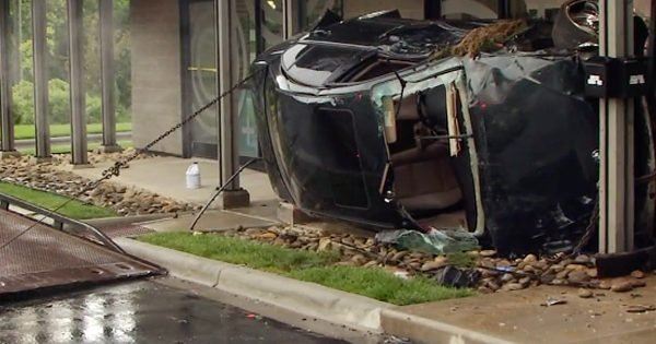 Mystery Stranger Rescues Toddler After Car Crashes into Pharmacy