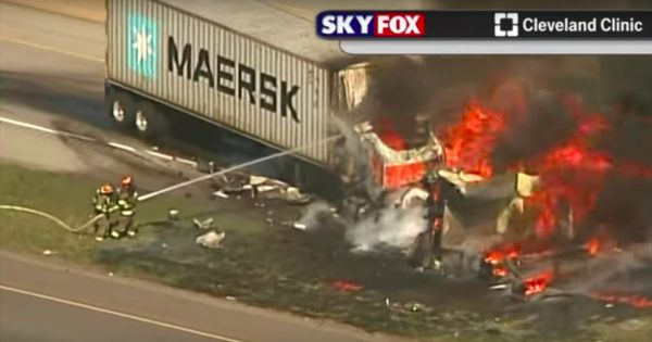 Divine Intervention Puts Heroic Firefighter in the Path of Fiery Crash
