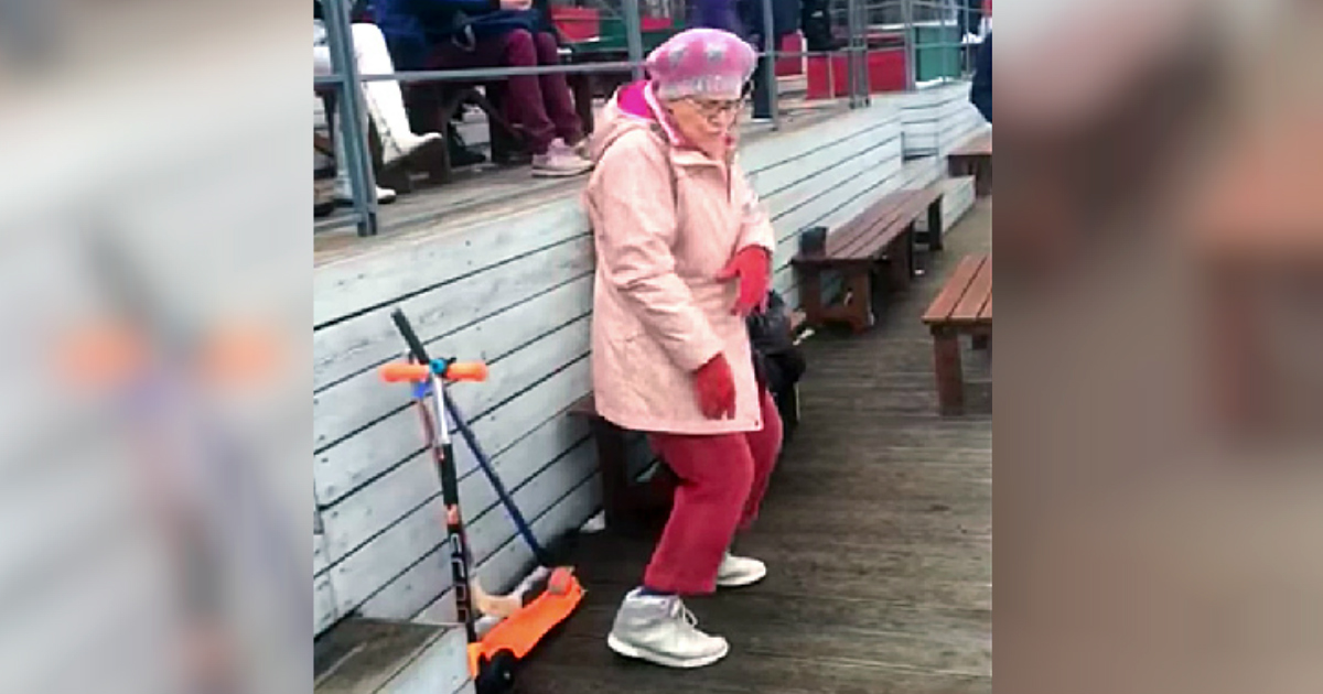 granny dancing to sweet dreams by eurythmics goes viral