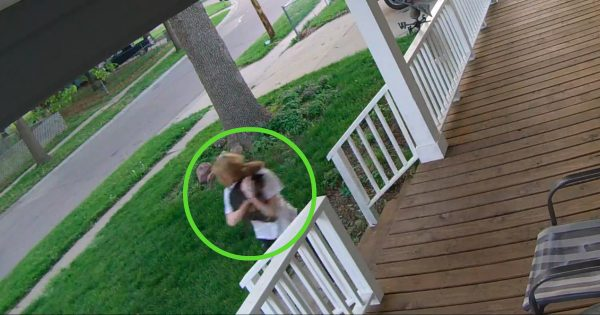 Security Cameras Catch Failed Abduction From Home's Front Porch