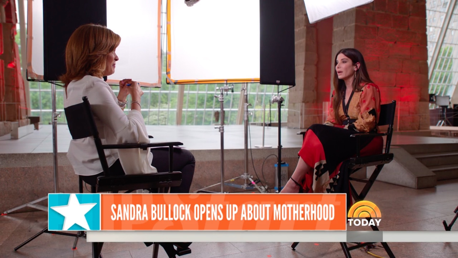Sandra Bullock and Hoda