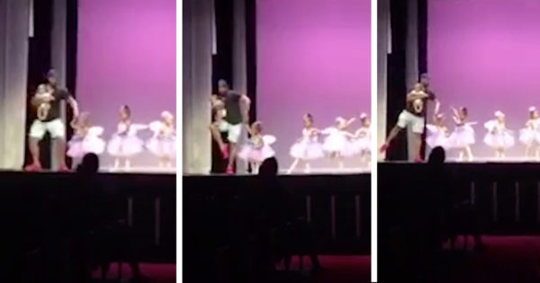 Dad Joins Dance Routine When His Toddler Gets Stage Fright