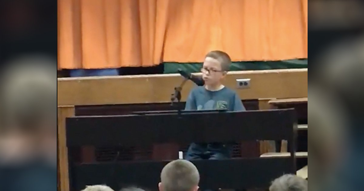 4th grader's piano rendition of 'imagine'