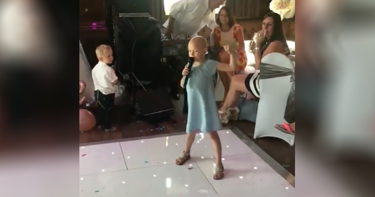 6-Year-Old Cancer Patient Sings Fight Song At Wedding
