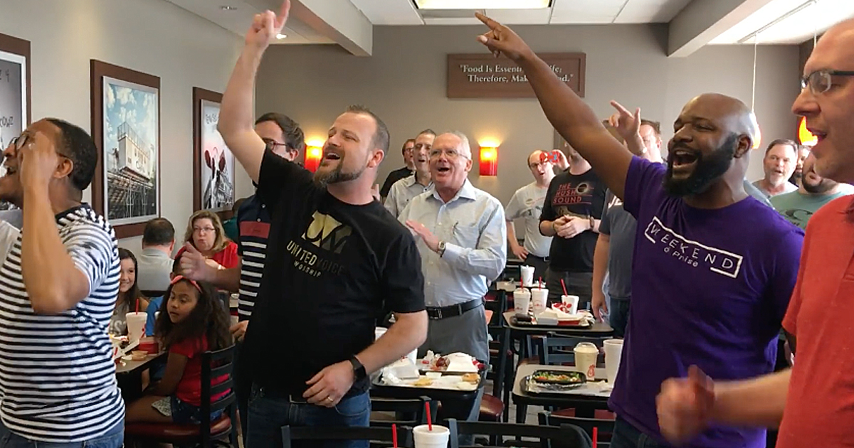 Chick-Fil-A Gospel Flash Mob