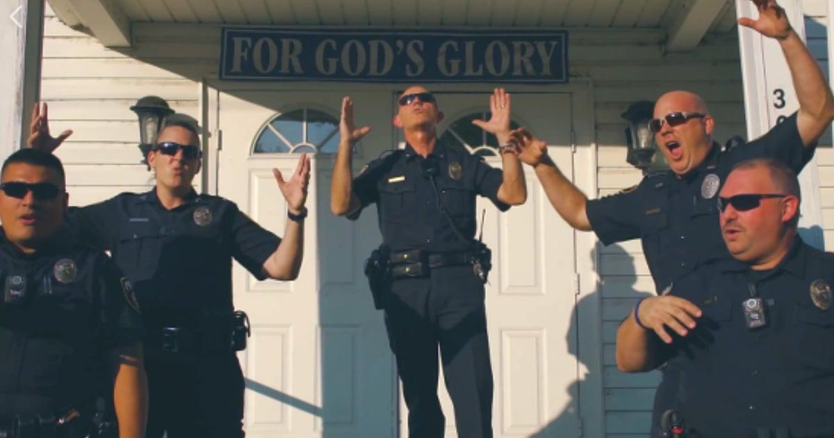 'God's Not Dead' police lip sync