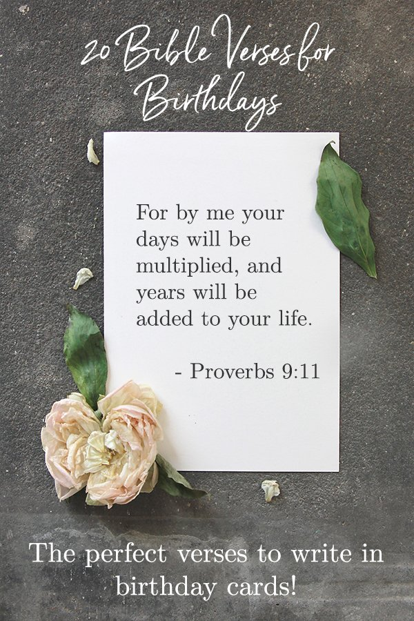 20 Best Bible Verses for Birthdays - Celebrate Birth with