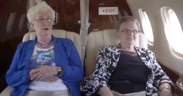 Grannies Overcome Fear to Take Their First Flight