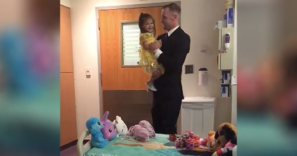 Father Dances With 2-Year-Old Daughter Battling Cancer