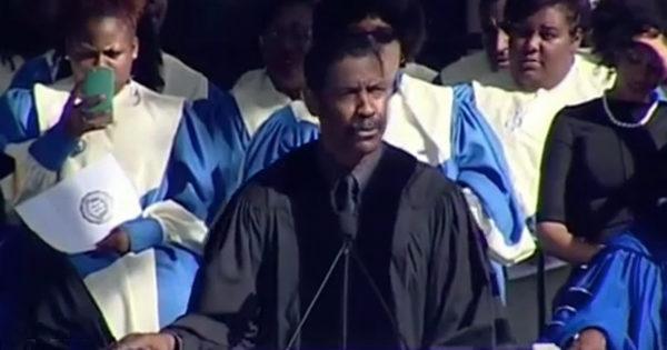 Denzel Washington Says 'Put God First' In Motivational Speech