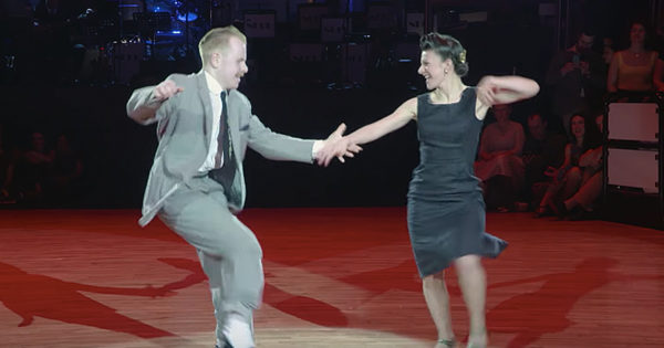 Couple's Swing Dance Routine To Movie Classic Has Everyone Clapping