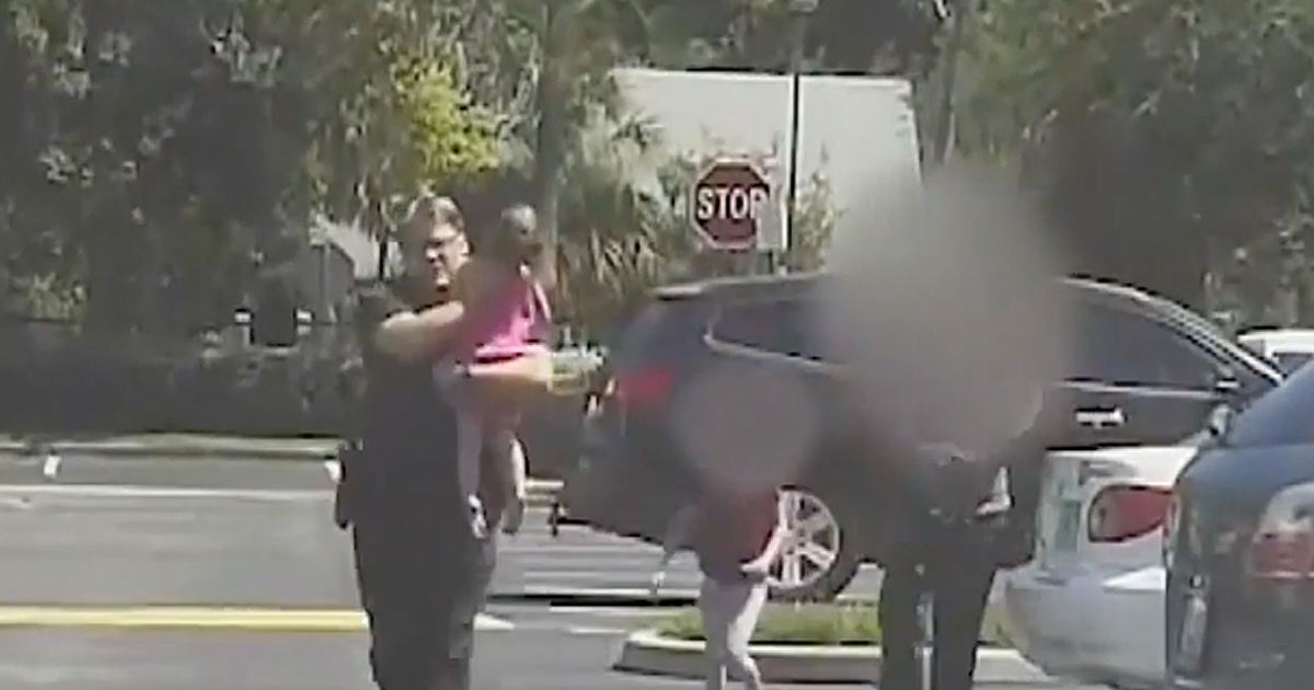 Police Officer Saving A Little Girl From A Hot Car