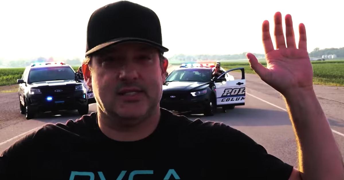 police lip sync featuring Nascar driver Tony Stewart