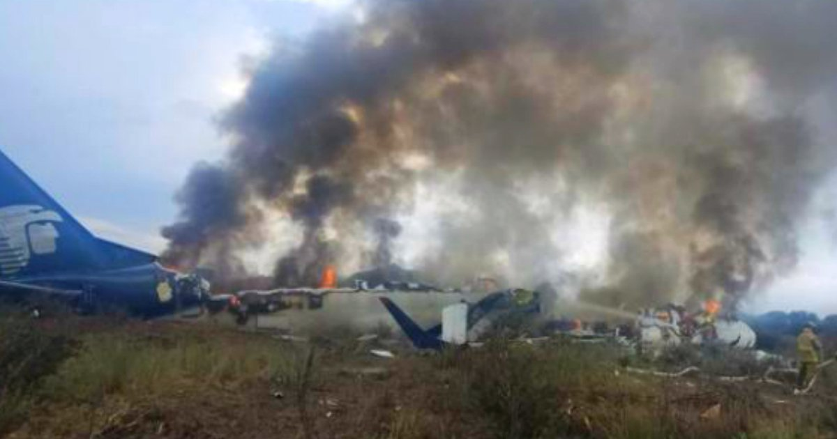aeromexico plane crash miracle fb